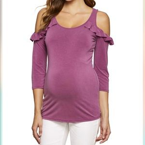 Jessica Simpson Cold Shoulder Maternity Top